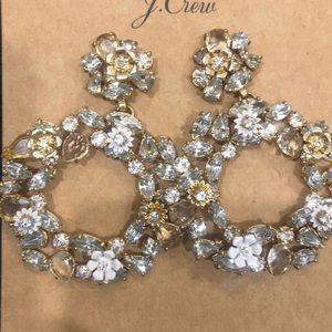 JCrew - Glass floral statement earrings